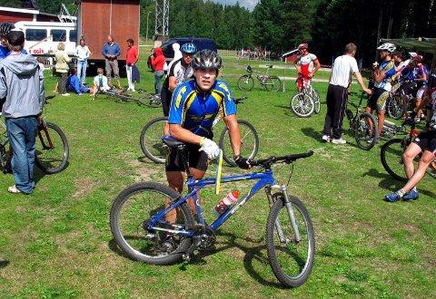 FEIL SYKKEL: Tom Eriksen valgte feil sykkel men kjørte likevel inn til en sterk plassering i Sverige sist helg.(Foto: Privat)