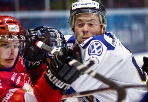 NY KAMP: Petter Witnes og Sparta vant kampen mot Marius Hagberg og Stjernen på isen. 27. mars kan Sarpsborg slå Fredrikstad igjen.(Foto: Johnny Helgesen)