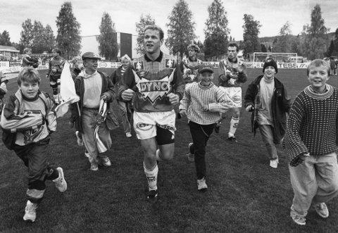 Sølvgutter: KIL tok i 1992 seriesølv. Kjell Roar Kaasa (i forgrunnen) ble toppscorer i eliteserien med 17 mål.FOTO: OLE-JOHNNY MYHRVOLD