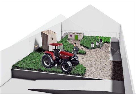 Innendørs hage: I Sommerfuglhagen er det meningen at halve taket skal være av glass. Med gress på gulvet og sommerfugler i lufta blir dette starten på reisen i jorda. Ill.: Expology