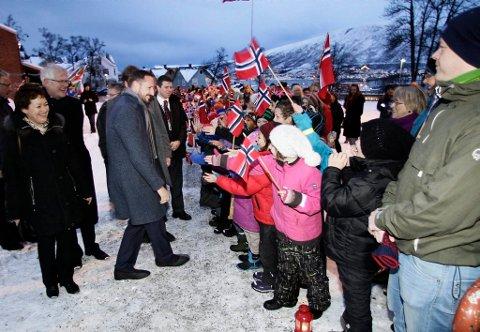 Kronprinsen var onsdag på besøk i Tromsø.