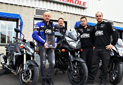 Godt team: Fra venstre: Øystein Riseberg (48), Gunnar Falk (41), Trond Borgli (35) og Kjetil Berntsen (30).
