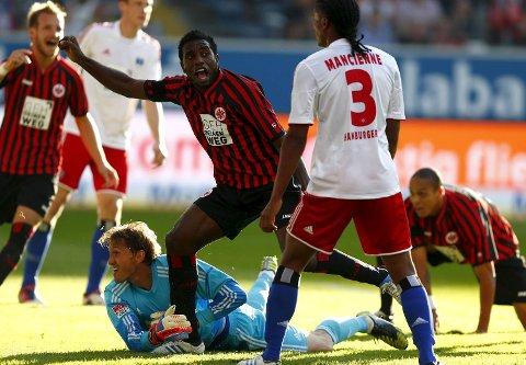 ÅPNET MÅLKONTOEN: Den tidligere Lillestrøm-spissen Olivier Occean scoret sitt første mål for Eintracht Frankfurt i forrige serierunde. Vi tror laget hans tar en ny seier i dag.