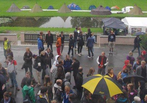 Studentene på UMB har innledet en teltaksjon mot boligmangelen.