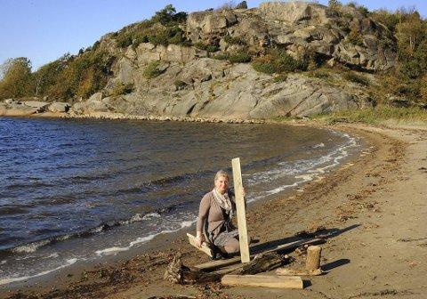 fe47c8c1 Om høsten kommer det mye fint rekende med tidevannet, forteller Marit  Iversen.
