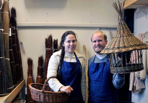 Magne og Frøydis Stiansen etablerte Kurvboden for ett år siden.