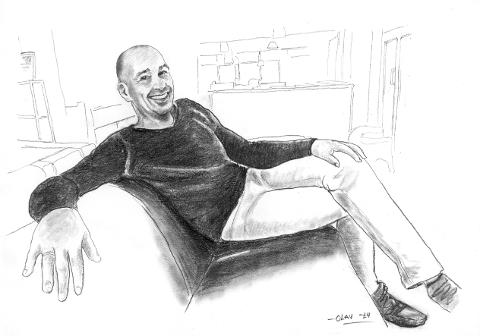 Jørgen Knudsen. (Tegning: Olav Sandvik)
