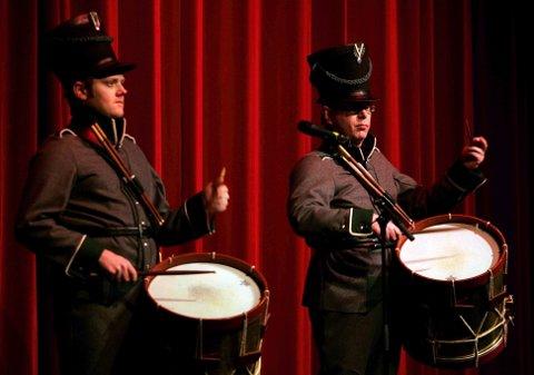 Glåmdalens artistgalla 2007. Kongsvinger Fæstnings Tambour Corps, Anders Westlund og Øyvind Roos. FOTO: FREDE Y. ERIKSEN
