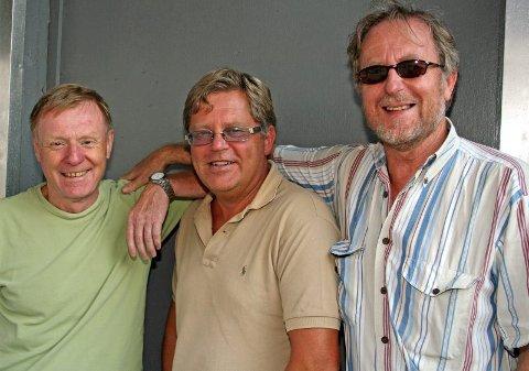 Høstjazz:  Per Olaf Toftner, Bjarne Aaserød og Johnny Lauritzen ser frem til høstens konserter. (Foto Annelise Fjeld Knutsen)