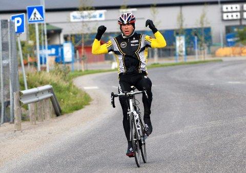 Tom Eriksen syklet raskest og ble vinner av Polarsirkelrittet fra Bodø til Mo i Rana. Foto: Gøran Opanashchuk