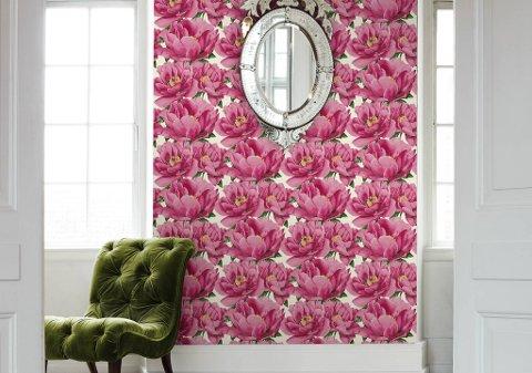 50 kroner fra hver solgte tapetrull av designet Bloom går uavkortet til Kreftoreningen i forbindelse med årets Rosa sløyfe-aksjon.