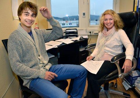 Samarbeid: Alexander Rybakk ble kjent med Prima-sjef Violetta Sørensen gjennom Violettas datter som spiller i Rybaks band.