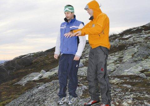 Sveitseren Bernhard Russi, som har designet hver eneste OL- og VM-løype i alpint siden 1984, var på befaring på Norefjell sist helg. Han skal hjelpe Marius Arnesen (t.v.) og Norefjell Skisenter med å finne en trasé som kan hjelpe Norefjell i kampen om å få arrangere alpinøvelsene i OL, om Oslo blir søkerby til OL i 2022.