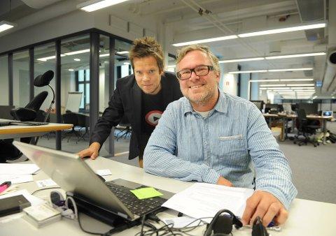 Amedias Jørn Korbi og Wimp-redaktør Sveinung Rindal er svært nøgd med å ha komme i hamn med ein avtale som vil gje Bandwagon-artistane ei unik eksponering.