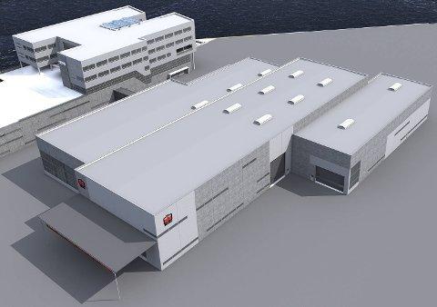Kontorbygninger og verkstedhaller bygges for vekst. Illustrasjon: B+B Arkitekter