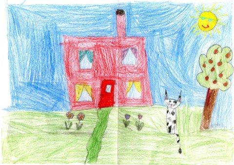 mot sommer: Mia Rosenvold Engstrøm (9 år) fra Gjøvik har kalt tegningen sin for «Mot sommer». Tusen takk for flott tegning, Mia!