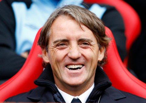Roberto Mancini kunne glise bredt etter 6-1-seieren.