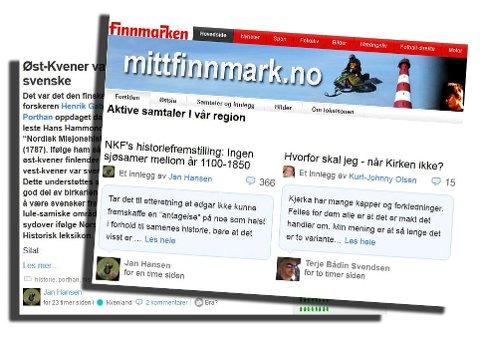 NETT: Det er på Internett det skjer. Spesielt på finnmarken.no og mittfinnmark.no.