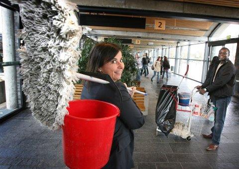 ? EKSEPSJONELT BRA: Marita Trøen, administrerende direktør i ASC Østlandske Rengjøring AS, kan konstatere at fjoråret ble et rekordår.FOTO: KAY STENSHJEMMET