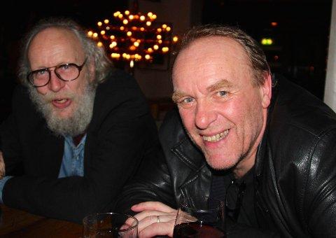 «Gammel ulven» Ole Petter Refsahl  og Leder av Lofoten Jazzklubb, Ole Jørgen Farstad er enige om at konserten var «helt konge».