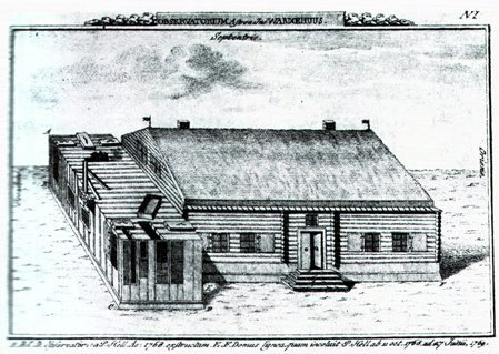 HELLS HULE: Da paterMaximillian Hell kom til Vardø med femti mann, bygget han dette observatoriumet på Valen.