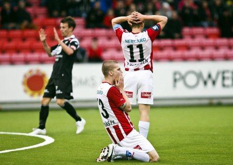 Tromsø-spillere depper etter å ha sluppet inn på overtid.