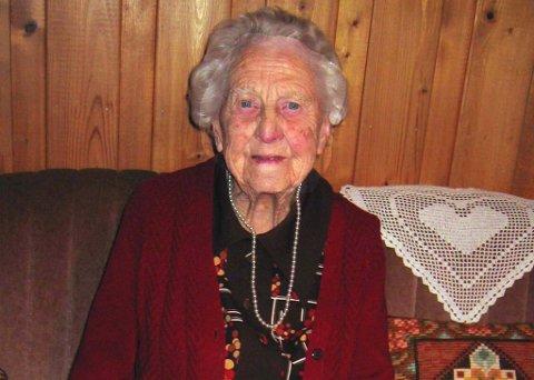 Arkivfoto fra Bertha Ensruds 100-årsdag.