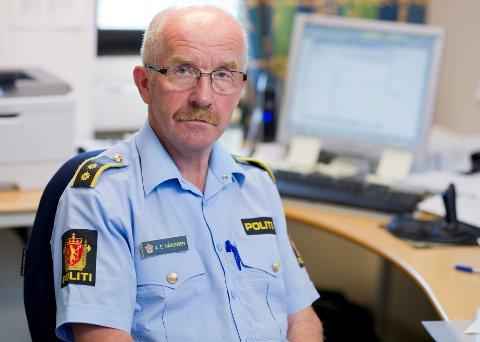 bekymret: Politioverbetjent Arne Erik Håkonsen ser med uro på tallene.