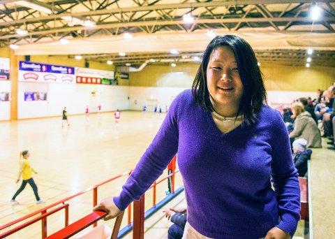 Fornøyd: Håndballgruppas leder Gro Mee Teigen kan smile etter ett år hvor de har leverte positive tall og fått kvittet seg med all leverandørgjeld som har hengt ved.