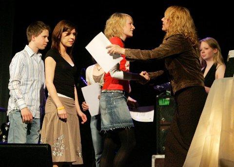 Prisbevisst. Spellemann-vinner Eva Trones hadde flere tips på lur til alle som skulle holde takketale.