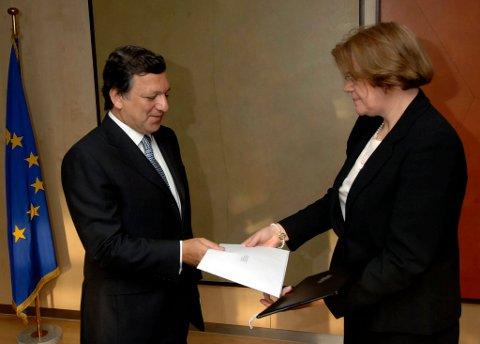Ode Helen Sletnes og EU-president José Manuel Barroso.