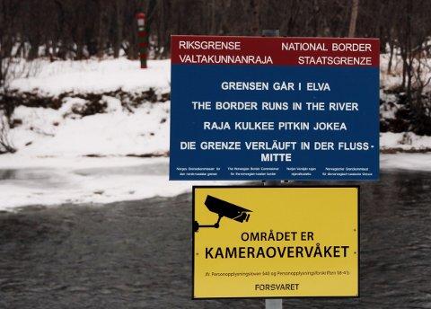 Illustrasjonsfoto av grensa mot Russland, her i den andre enden ved Grense Jakobselv.