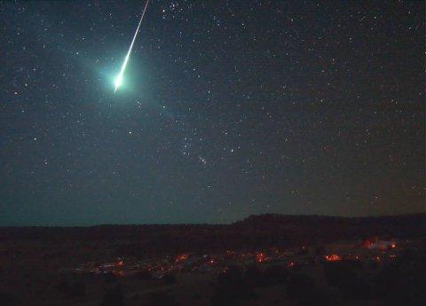 Kule: Slik som dette beskriver Høgseth at lyset så ut. Bildet er tatt av NASA i 2008.