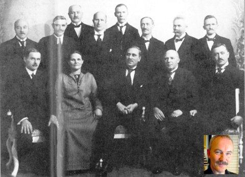 BETYDNINGSFULL: Gitta Jønsson som første kvinne i formannskapet i Tromsø i 1913. Innfelt kronikkforfatter Rune Blix Hagen. Foto hentet fra Dag Skogheim sin bok om Gitta Jønsson