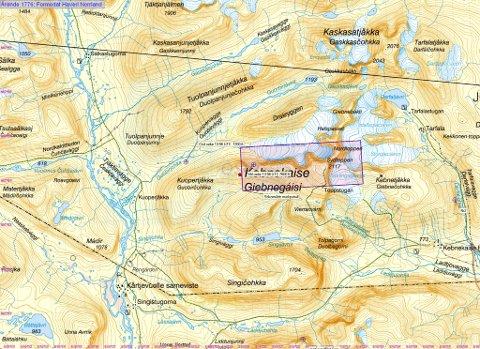 HER LETER DE: Letemannskapene konsenterer seg om et område på 2x5 kilometer sør og nord for Kebnekaises topp.