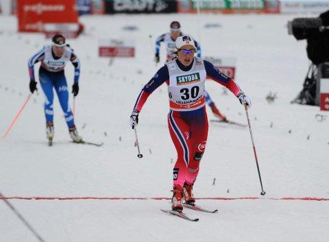 NUMMER 20: Barbro Kvåle havnet i et knallsterkt kvartfinaleheat, hvor hun gikk inn til fjerdeplass. Foto: Tor Erik Pettersen, Oppland Arbeiderblad