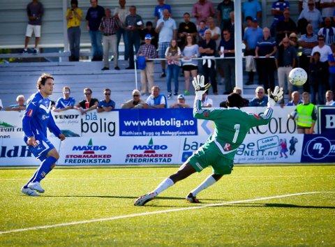 SE PÅ: Martin Wiig i Sarpsborg 08 skal på fjernsyn våde mot Start til helgen og HamKam senere. (Foto: Thomas Andersen)