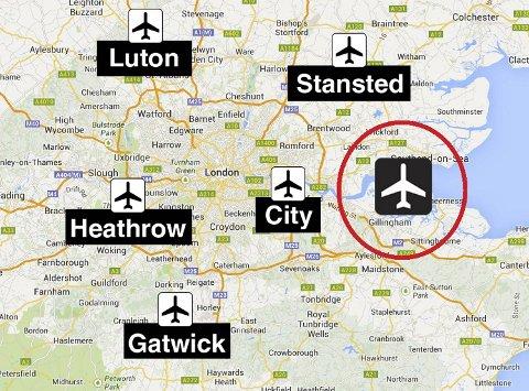 flyplasser london kart Bergensavisen   Vil bygge ny, flytende storflyplass i London flyplasser london kart