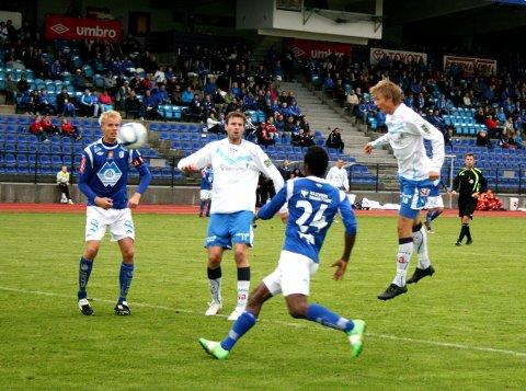 Sarpsborg 08 er ute av cupen etter 1-2-mederlag borte mot Hødd onsdag kveld. Hødd scoret seiersmålet med kun tre minutter igjen av 2. ekstraomgang. (Foto: Rolf Hansen)