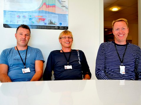 Haavard Aakre, Vidar Mathiesen og Bjørnar Werswick har dannet en ny bedrift: InflowControl. Med selskapet vil de hente oljeøkonomien til Telemark.