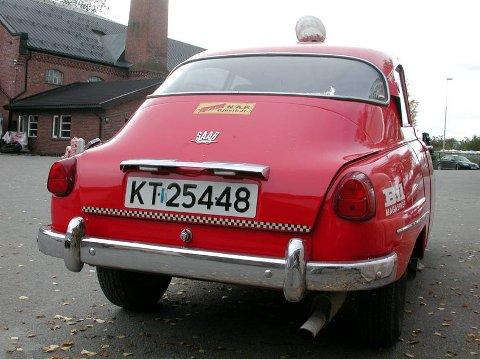 BAKPARTEN: De første bilene fra Saab hadde ikke bagasjelokk. Eldars Saab har de store baklysene og den store bakruta som kom med 96 i 1960.