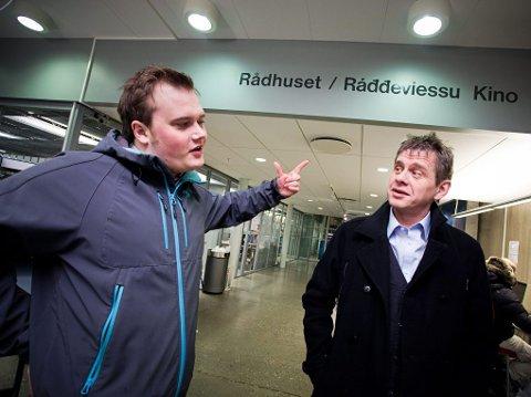 UENIGE: Venstre-politiker Jonas Eilertsen mener det er helt unaturlig å sette byens navn på samisk foran det norske. Aps Magnar Nilssen synes det er fornuftig å innlemme Tromsø i det samiske forvaltningsområdet.