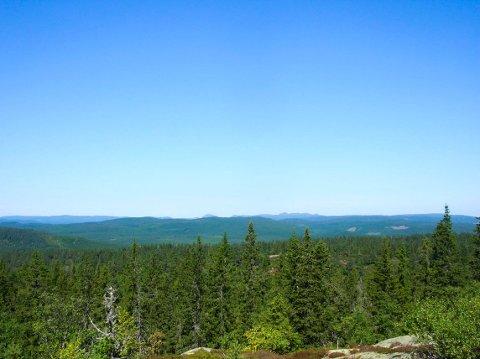 Fra Ruketuten er det en fantastisk utsikt. Her ligger Skrimfjella i bakgrunnen.