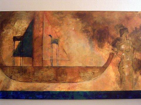 ABSTRAKT: Ett av Inger-Hilde Nyruds malerier.