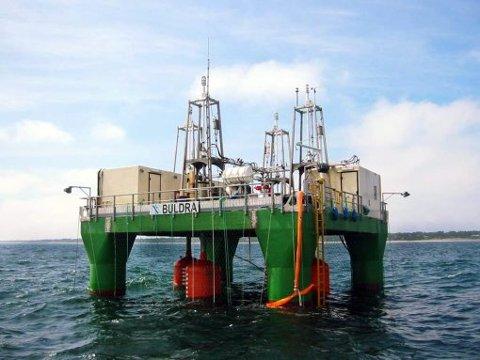 Pilotanlegget, bølgeplattformen «Buldra», har i tre år stått utenfor Jomfruland for testing.
