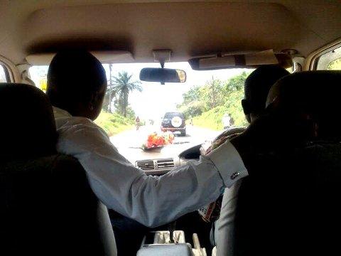 På vei til hotellet i Kisangani.
