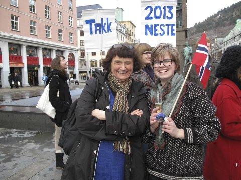 Oddny Irene Miljeteig (Sv) takket aktivistene for samarbeidet og gratulerte dem med dagen.