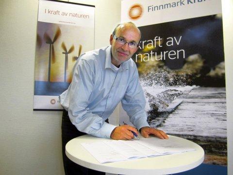 FORVENTNINGSFULL: Administrerende direktør i Finnmark Kraft AS, John Masvik, har stor tro på at selskapet får konsesjon til å bygge vindkraftverk på Hamnefjell i Båtsfjord.