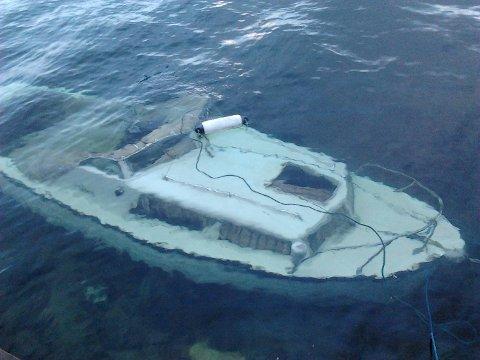 En Sotra-mann prøvde å bli kvitt denne «ubåten» tidligere i år.
