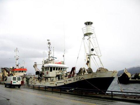 "Nye ""Havrand"" ved kai i Nord-Norge."